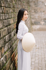 IMG_1613 (Call me CHOW) Tags: happy dress beauty blond female long hair carefree young women wavy fashion model beautiful people portrait ao dai aodai girl hanoi vietnam sunny yearbook smilling smile sunset lookbook pretty posing face