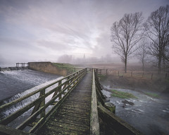 Mid Winter Mist (unciepaul) Tags: deene park misty morning landscape photography leading lines water bridge trees view december winter church verywideangle sonya6000 lightroomhdr hdr england a6000 beautiful cold detail earlystartagain image tripod laowa 9mm manual focus f8 northamptonshire