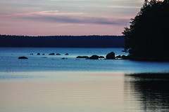 Schweden 08 264-1 (Andre56154) Tags: schweden08 schweden sweden sverige see lake wasser water ufer abend abendrot afterglow himmel sky wolke cloud landschaft landscape