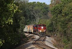 Monett Turn (GLC 392) Tags: garfield arkansas ar missouri railroad railway train monett turn emd sd70ace am 71 72 s curve trees tree zoom wimpy jones road emdx