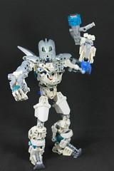 ArcticBreez the Experiment (Blazingrat96) Tags: ego bionicle mocs arctic breez breeze blazing rat blaze blazingrat fire ice white silver