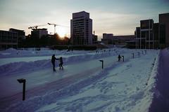 Espoo (Tuomo Lindfors) Tags: espoo finland suomi rni allfilms luistinrata icerink skatingrink luistelu skating lumi snow jää ice auringonlasku sunset
