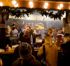 Bavarian Swing Grill, Christmas Markets, Albert Square, Manchester (_p_e_r_s_e_p_h_o_n_e_) Tags: manchester christmasmarkets albertsquare streetphotography afterdark candid eos80d canon affinityphoto streetfood
