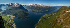 Loen Panorama, Norway (AdelheidS Photography) Tags: adelheidsphotography adelheidsmitt adelheidspictures norway norge noorwegen noruega norwegen norvegia nordic norvege norden loen viewpoint skylift nordfjord stryn lovatnet stitch panorama