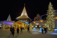 Santa Claus Village (spintheday) Tags: finland travel christmas holiday santaclausvillage santaclaus night cold winter snowman