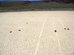 Mysterious Roving Rocks of Racetrack Playa (karadogansabri) Tags: deathvalley racetrackplaya rocks nasa goddardspaceflightcenter california rocktracks slidingrocksofracetrackplaya deathvalleyracetrackplayarocksnasagoddardspaceflightcentercaliforniarocktracksslidingrocksofracetrackplaya