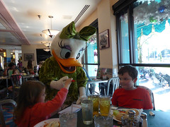 Florida Day 4 - 077 Disneys Hollywood Studios Minnies Holiday Dine at Hollywood and Vine Daisy Duck (TravelShorts) Tags: wdw walt disney world disneys hollywood studios florida orlando fantasmic frozen vine star wars tower terror