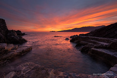 Secret cove sunset (Maurizio Fontana) Tags: italia italy liguria landscape sea scape sunset tramonto rapallo zoagli pozzetto sony mare