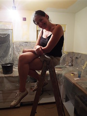 A bit of summer DIY..... (sean and nina) Tags: nina diy summer july 2018 kitchen painting work working hot heat warm sunny shorts black top spaghetti straps trainers legs arms bare skin tan tanned sun brunette brown hair eyes pink lips neck throat face shoulders workins candid people person woman female girl lady girlfriend fiancee wife married beauty beautiful gorgeous stunning charm cute croatian serb croatia hrvatska eu europe european balkan balkans bar stool sitting seated indoor inside