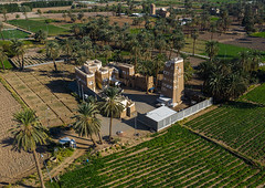 Aerial view of a traditional old mud house, Najran Province, Najran, Saudi Arabia (Eric Lafforgue) Tags: adobe aerialview agriculture arabia arabicstyle architectural architecture brick building buildingexterior builtstructure colorimage cultivatedland day drone farm field habitation horizontal house ksa middleeast midmakh mudbrick nopeople oldbuilding oldhouse outdoors photography plamtrees saudiarabia saudi181972 travel traveldestinations village najran najranprovince sa