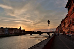 _14A3465bis (lukanski) Tags: florence tramonto sunset arno firenze rosso fiume river lungarno