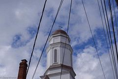 Steeple #1 (davekrovetz) Tags: steeple church pentax pentaxk70 k70 charlottesville virginia clouds sky