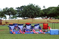 US Flag print Chairs (ALOHA de HAWAII) Tags: alamoanabeachpark