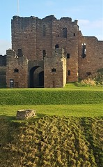 Tynemouth Castle and Priory In January Sun (Gilli8888) Tags: cameraphone samsung s7 tynemouth northtyneside coast coastline coastal sea seaside waves priory tynemouthpriory ruin historicalsite windows grass green door entrance sunshine