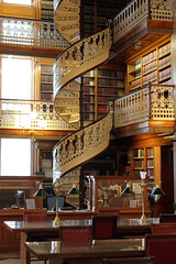 Spiral Staircase in the Library at the Iowa State Capital (boom_goes_the_canon) Tags: iowa state capital building capitol library spiral staircase legal history architecture gold desmoines statecapital capitalbuilding nationalregisterofhistoricplaces