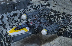 We're Starting Our Attack Run (Ben Cossy) Tags: lego ywing rebel rebellion star wars moc afol tfol republic hoth snow flying rebels