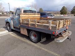 1955 Ford F-250 (twm1340) Tags: 1955 ford f250 truck flatbed utility walmart parking lot classic