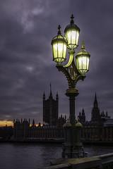 Upon Westminster Bridge (NoVice87) Tags: westminsterbridge london parliament sunset bluehour lamplight spires