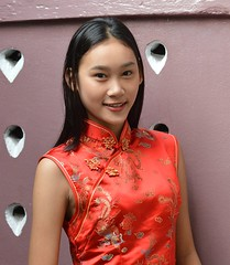 happy chinese new year (the foreign photographer - ฝรั่งถ่) Tags: pretty woman girl khlong thanon portraits bangkhen bangkok thailand nikon d3200