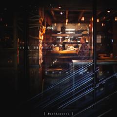Waiter Waiting (amipal) Tags: 175mm canarywharf capital city england europe gb greatbritain lightfestival london manuallens night restaurant street uk unitedkingdom urban voigtlander
