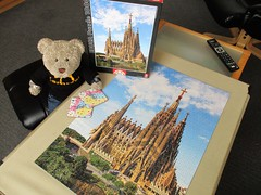 It'll be nice when it's finnished! (pefkosmad) Tags: jigsaw puzzle hobby leisure pastime educa 1000pieces complete secondhand used cathedral spain gaudi wwwpuzzlepassioncom sagradafamilia building architecture unfinished barcelona tedricstudmuffin teddy ted bear animal toy cute cuddly fluffy plush soft stuffed