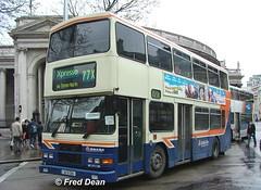 Dublin Bus RA200 (95D200). (Fred Dean Jnr) Tags: april2005 dublin dublinbus busathacliath dublinbusbluecreamlivery volvo olympian alexander r dublinbusroute77x ra200 95d200 collegegreendublin m282ukn rend