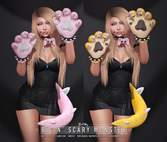 Sweet Thing. Big n' Scary Monster Set (Sweet Thing.) Tags: sl secondlife sweetthing cosplay bowsette bowser gamer rammus dinosaur maitreya kemono slink belleza bento tail gloves kustom9