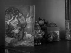 Chacun sa crèche (Gilbert-Noël Sfeir Mont-Liban) Tags: nativité nativity weihnachten weihnacht noël christmas jésus marie joseph crèche jesus mary noiretblanc blackandwhite