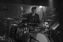 Paul Moreau : Drums - Black Mirrors (Samarrakaton) Tags: 2018 bilbao santana27 samarrakaton live directo music musica rock nikon d750 2470 byn bw blancoynegro blackandwhite monocromo blackmirrors