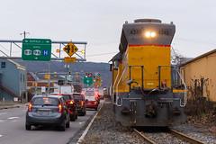 ITHR 102 - Ithaca (Wayside Railography) Tags: ithaca central ithr 102 sd45 emd shortline new york sal salt street running railroad watco long hood forward