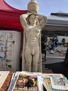 Giant male statue, Rose Bowl Flea Market, Pasadena, California, USA (gruntzooki) Tags: rosebowl rosebowlflea rosebowlfleamarket fleamarket thriftscore pasadena california cali cal ca usa losangeles la dicks dudes statues