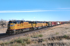 UP4560 near Byers, CO  March 17, 2002 (blupenny99) Tags: trains railroads byersco colorado up unionpacific