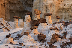 Sculptor's Quandary (Willie Huang Photo) Tags: utah arizona southwest desert canyon hoodoos glow reflected light rayleighscattering cool warm rock stone landscape nature scenic