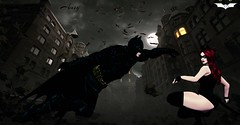 ᏰᾀtḾᾀṈ vຮ ᏨᾀtᏔṎḾᾀṈ (ImperialAms) Tags: sl secondlife batman catwoman dc virtual life amsy awesome dark knight bats
