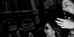 No time to stop. (Baz 120) Tags: candid candidstreet candidportrait city contrast street streetphotography streetphoto streetportrait strangers rome roma europe women monochrome monotone mono noiretblanc bw blackandwhite urban life portrait people olympus italy italia grittystreetphotography flashstreetphotography faces decisivemoment