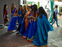 Bride and her best friends (Thanathip Moolvong) Tags: bride best friend wedding ceremony photo shooting india hindu tradition singapore chinatown