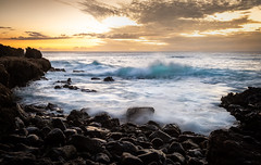 Hawaii Point (Alene Davis) Tags: hawaii waves ocean beach shore rocky water sunset soft longexposure dreamy