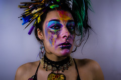 Strisls portrait Series 2 of 16 (Jef Harris) Tags: paintbrushes rave lifx portrait creativemakeup makeupartist beauty beautymua ottawacanada model nikond7000 mua fashion makeupupoftheday mask photooftheday art facepainting