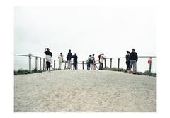 (harald wawrzyniak) Tags: analog analogue film scan kodak portra 120mm mediumformat travel ireland eire irland people peoplenotportraits documentary fence view standing 2016 haraldwawrzyniak wawrzyniak harald minimal minimalistic mundane