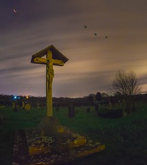 Will god forgive me for my sins (Trigger1980) Tags: church grave nikon nikond7000 nite night clouds long england exposure sussex sky lights lens cuckfield cloud moon graveyard jesus