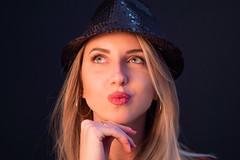 Kiss Kiss (lele_photographer_italy) Tags: girl ragazza donna lips labbra rosse bionda eyes occhi cappello cap ring anello orecchini sguardo amanzing stupenda dream dreamer desire