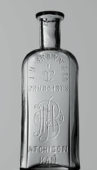 J. H. BROWN & CO., ATCHISON, KS (Ks Ed) Tags: antique antiquebottle glass vintage excavated dug old drugstore drug medicine ks kansas bottle find prescription pharmacy apothecary bottles brown monogram atchison