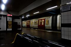 Edit of-0092 (Daisy Roffe) Tags: london underground trains subway neon moody dark tube