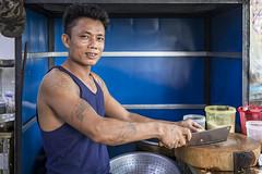 Cook at work in Yangon, Myanmar (Daddi Andrea) Tags: myanmar burma burmese birmania asia southeastasia asian asean travel street streetphotography tourism cook food restaurant smile portrait people