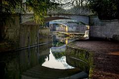 Curves (Nige H (Thanks for 15m views)) Tags: nature landscape canal reflection bath cityofbath barge bridge somerset england kennetavoncanal sydneygardens