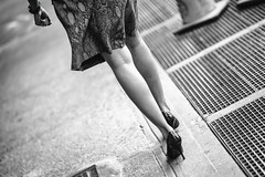 Blue Skirt in Black and White (Thomas Hawk) Tags: america manhattan nyc newyork newyorkcity usa unitedstates unitedstatesofamerica bw fav10 fav25 fav50
