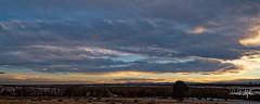 Sunset, Looking South Towards Pike's Peak (Explored) (dcstep) Tags: dsc1345dxo sunset pikespeak mountains rockymountains clouds cherrycreekstatepark colorado usa aurora allrightsreserved copyright2019davidcstephens dxophotolab202 handheld sonya7riii explore explored fe1224mmf4g