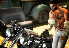 No708 (ashraf rathmullah) Tags: tattoo helmet man beard jeans sunglass svp deadwool motodesign magnificent juna pose xxx 666 ashraf rathmullah