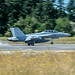 EA-18G of VAQ-129 Really Burning the Rubber on OLF Coupeville