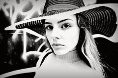 Cracked Actor (plot19) Tags: olivia liv love light family fashion fasion manchester uk england english britain british blackwhite blackandwhite face look hat plot19 photography portrait people pose street model mood up cool play